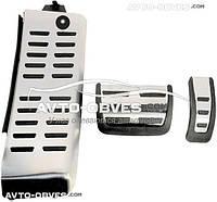 Накладки на педали для  Audi A6 2004-2011, АКПП (3шт)