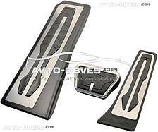 Накладки на педали для  BMW 5 (F10), АКПП (3шт)