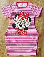 Детское платье с боковыми карманам Минни Маус