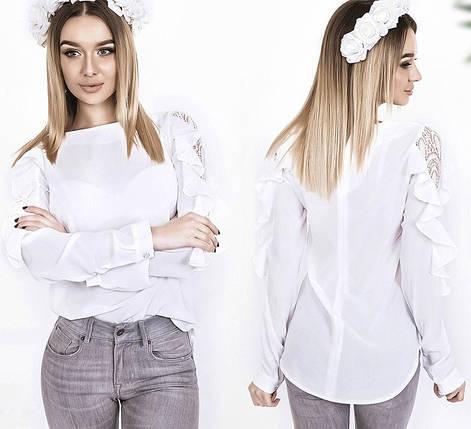Блузка с гипюром и воланами, фото 2