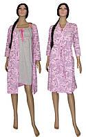 Комплект женский 02110 Amarilis Silver ночная рубашка и халат, р.р. 42-56