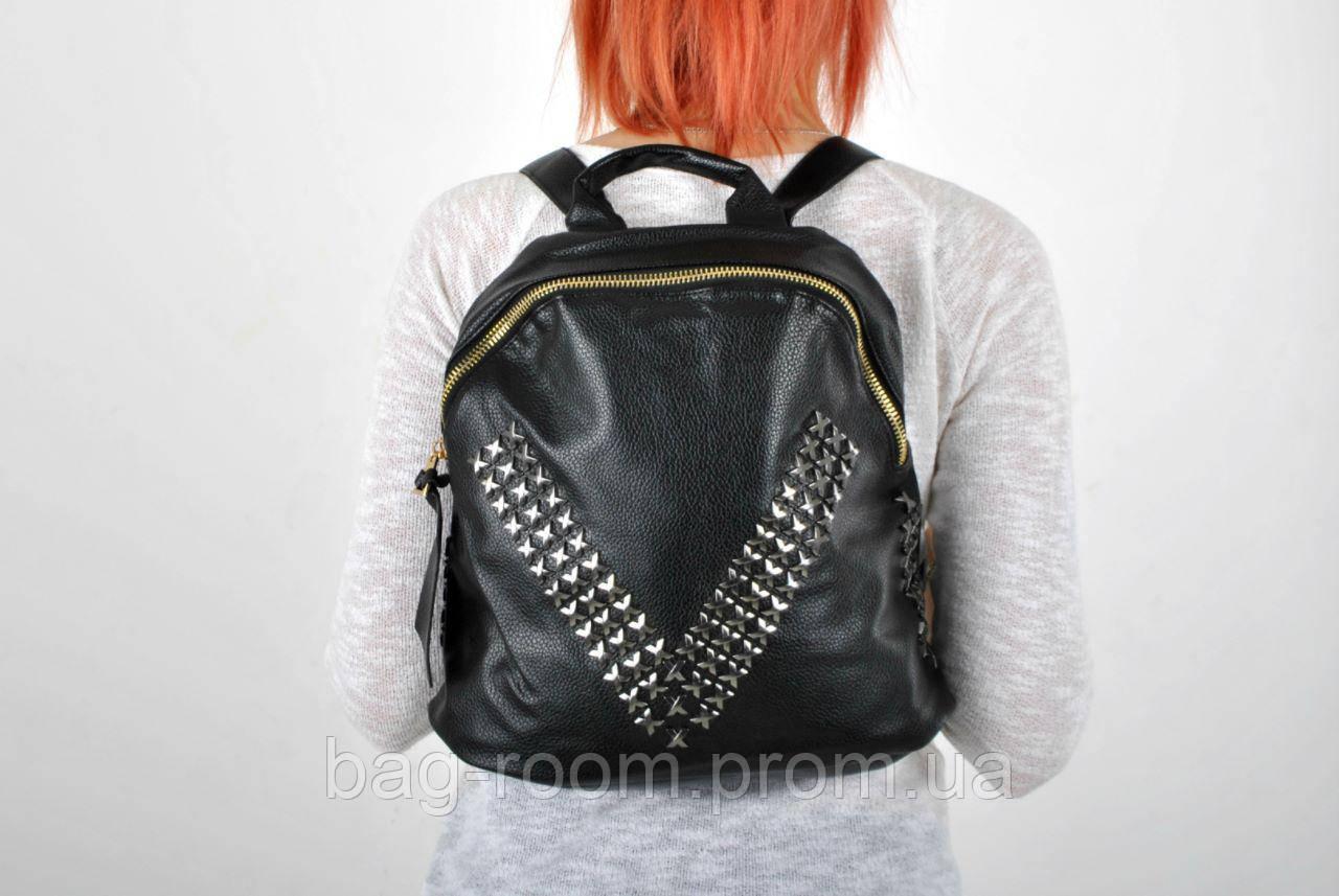 4c4e293973e9 Рюкзак женский городской с клёпками экокожа: продажа, цена в ...