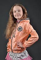 Детская куртка ветровка мастерка Киса для девочки 7, 8, 9, 10, 11, 12, 13, 14 лет. Демисезонная весна