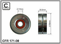 Ролик натяжной ремня приводного AUDI/VW 2.4/2.6/2.7/2.8 94- 55717 //078903133AB (CAFFARO)