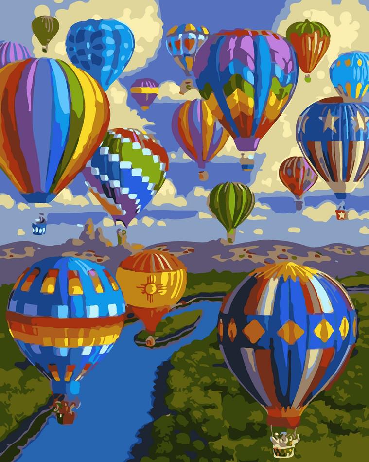 Набор для рисования по номерам Полет воздушных шаров ArtStory AS0034 40 х 50 см