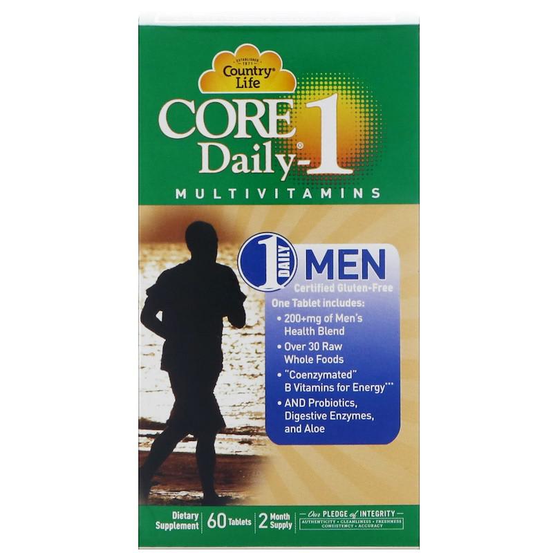 Country Life, Core Daily, Мультивитамины для мужчин, 60 таблеток