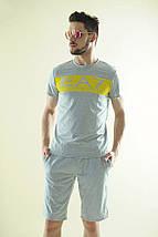 """Летний мужской спортивный костюм """"EA7"""" с шортами (3 цвета), фото 2"""