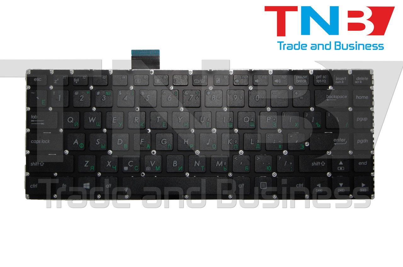 Клавиатура ASUS S400, S451, X402 черная без рамки RUUS