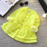 Легкая куртка ветровка для девочки Лимонный Рай , фото 1