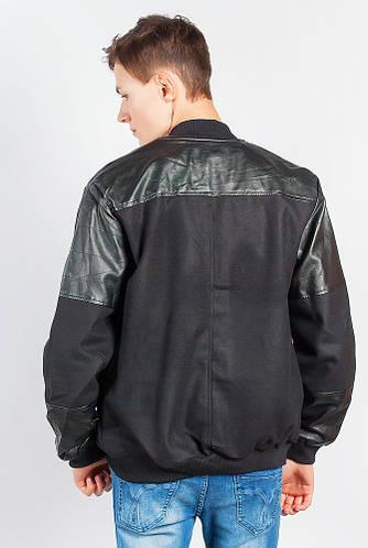 Куртка американка/бомбер мужская  665K003 (Черный)