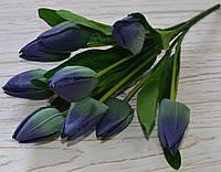 Букет тюльпанов сине-бирюзовых