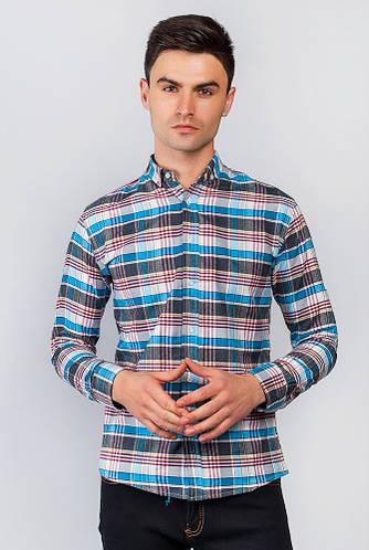 Рубашка светлая 371F011 (Серо-голубой)