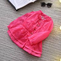Легкая куртка ветровка для девочки Розовый Шик