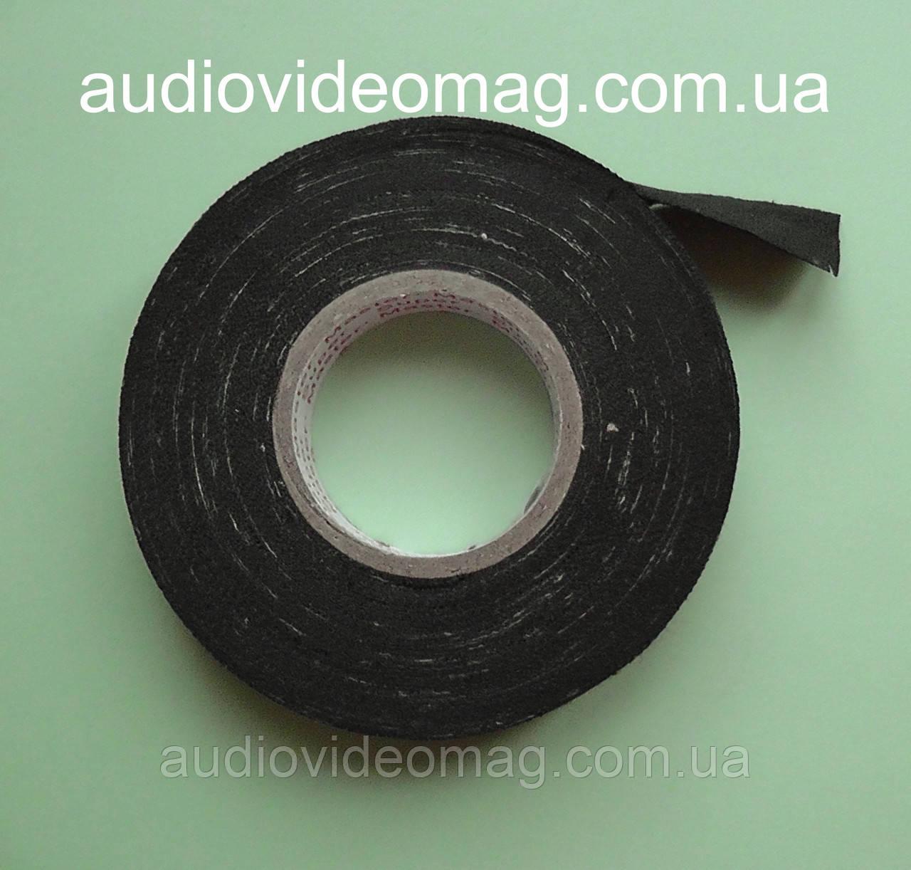 Изолента тканевая (ХБ основа), длина 20 метров, ширина 17мм, цвет - черный