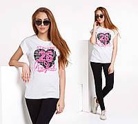 """Летняя свободная женская футболка 2901 """"ATHLETIC"""""""