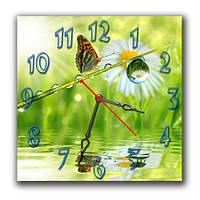 """Настенные часы """"Капелька росы"""" 30х30 см оригинальный подарок"""