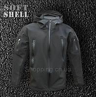 Куртка полиции SoftShell черная Police Tactical
