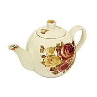 Керамический заварочный чайник Роза, 825 мл