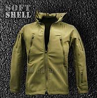 Куртка койот SoftShell тактическая Alpha Tactical, фото 1