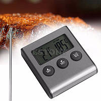 Электронный термометр с датчиком температуры щупом для продуктов питания со звуковым сигналом 0-250 ° С , фото 1