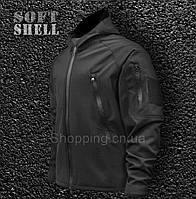 Куртка черная Softshell полиции тактическая Tactical Jacket, фото 1