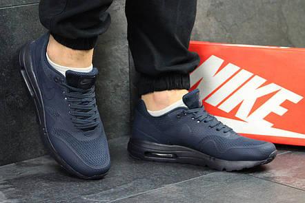 50e5daaf Модные мужские кроссовки Nike Air Max 1 Flyknit,темно синие: продажа ...