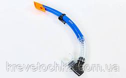 Набор для плавания маска с трубкой  (термостекло, PVC, пластик, серый,), фото 2