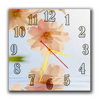 """Красивые настенные часы """"Очарование"""" подарок подруге 30х30 см"""