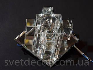 """Точечные декоративные светильники (стекло) под лампу типа MR16 и под лампу типа """"капсула"""""""