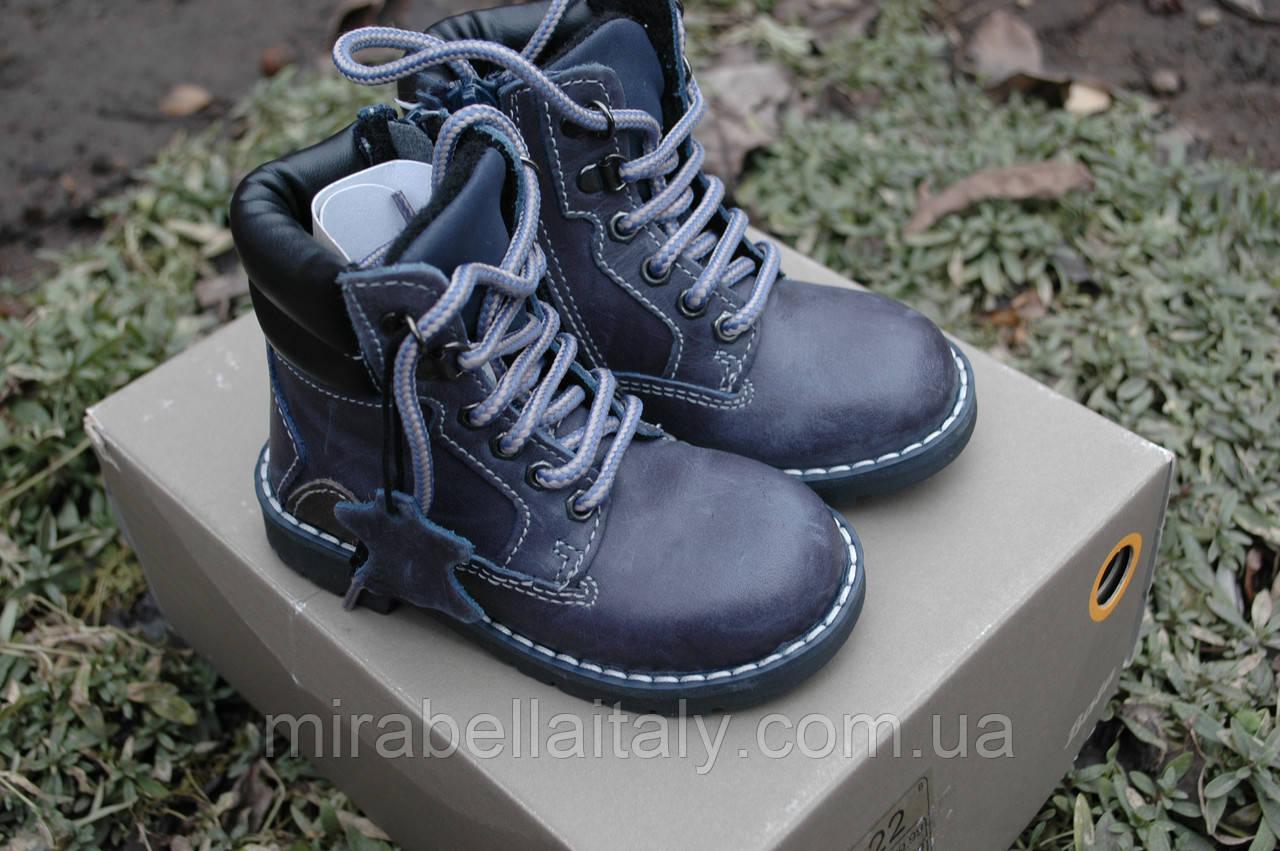 Ботинки  Bata кожаные демисезонные