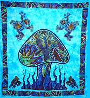 "Покрывало Mushroom ""Гриб"" голубое 100% хлопок (210х240 см)"