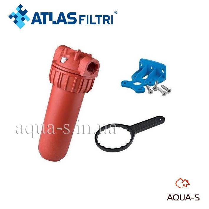 """Фильтр-колба для горячей воды Atlas Filtri Plus Hot 3P 10"""" (senior)  80° Картридж AFP SX ZA111P064"""