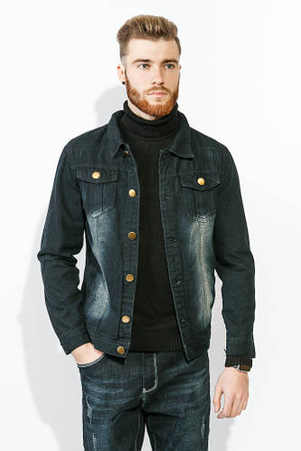 Куртка мужская стильная джинсовка 886K001 (Чернильный)