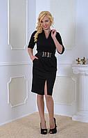 Элегантное платье с поясом, фото 1