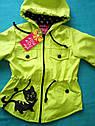 Модная детская ветровка Кошечка для девочек Размеры 28- 34. Цвет бежевый, фото 5