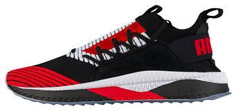 Мужские кроссовки PUMA Tsugi Jun Black Red  (люкс копия)