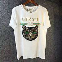 Люксовая женская футболка Gucci