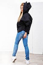 "Короткая женская куртка ""MICKEY"" с ушками на капюшоне, фото 2"