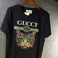 Шикарная женская футболка Gucci КОТ