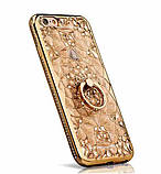 Чехол 3D для 6/6S iPhone золотой с кольцом и стразами, фото 6