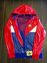 """Женская спортивная куртка-ветровка """"Аdidаs"""" с капюшоном (большие размеры), фото 3"""