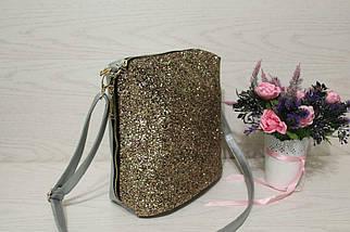 Оригинальная женская сумка украшеннаязолотойкрошкой