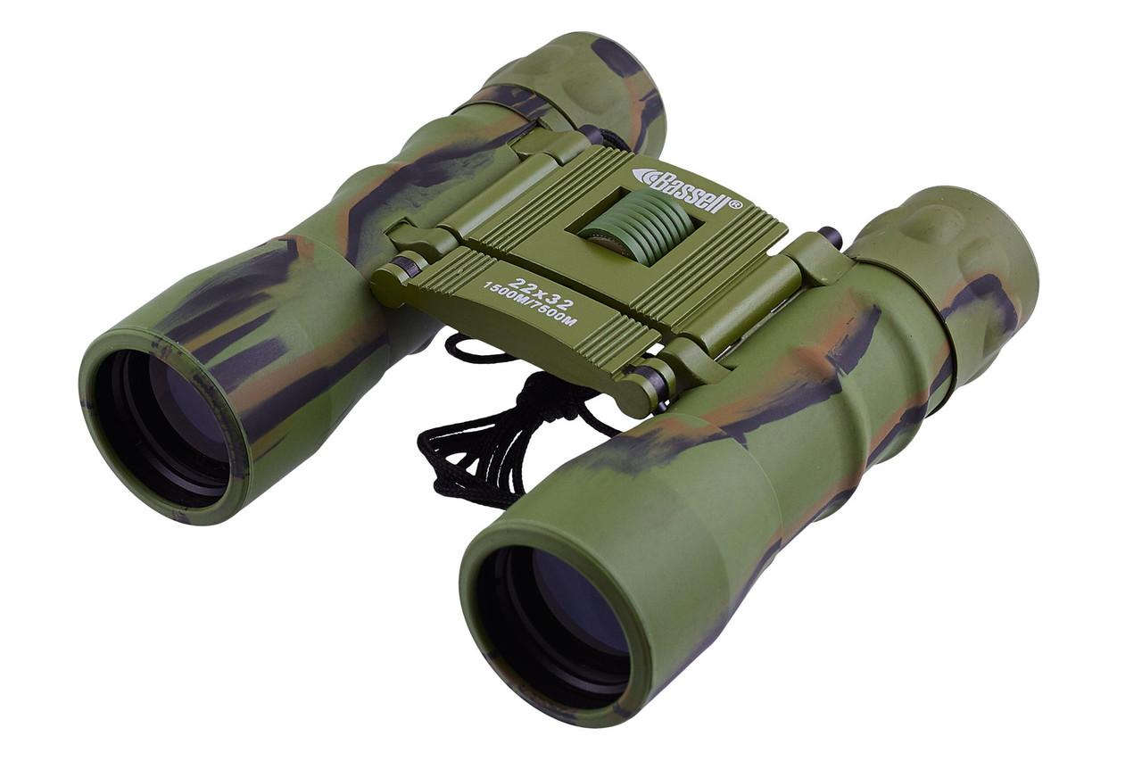 Бинокль компактный  22x32 - BASSELL (green)