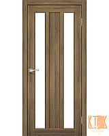 "Межкомнатная дверь коллекции ""Napoli"" NP-01 со стеклом сатин (дуб браш)"