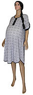 Туника - платье летняя для беременных Design В-00814, хлопок, р.р.46-60