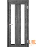 "Межкомнатная дверь коллекции ""Napoli"" NP-01 со стеклом сатин (дуб марсала)"