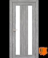 "Межкомнатная дверь коллекции ""Napoli"" NP-01 со стеклом сатин (эш-вайт)"