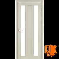 """Межкомнатная дверь коллекции """"Napoli"""" NP-01 со стеклом сатин (дуб беленый)"""