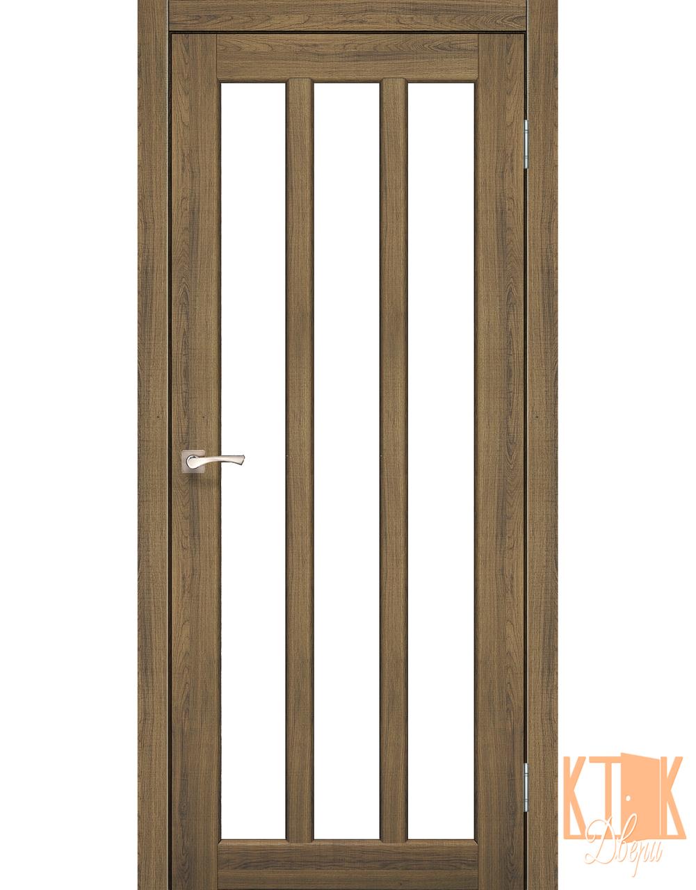 """Міжкімнатні двері колекції """"Napoli"""" NP-02 зі склом сатин (дуб браш)"""