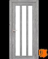 "Межкомнатная дверь коллекции ""Napoli"" NP-02 со стеклом сатин (эш-вайт)"